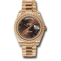 Rolex Day-Date II 218235 18K Rose Gold 41MM Brown Dial, Roman...