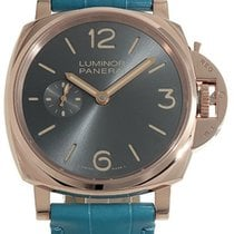 Panerai Luminor Due 3 Days Oro Rosso 42mm Light Blue Leather...