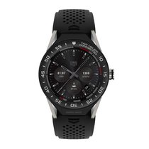 TAG Heuer Connected Modular 45mm Black Rubber Smart Watch...
