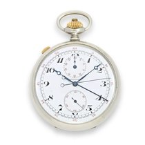 Longines Pocket watch: very rare split second chronograph with...