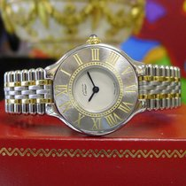 Cartier Must De Cartier 21 Steel And Gold Round Dress Watch