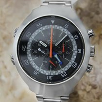 Omega 1969 Flightmaster 43mm Vintage Chronograph Stainless...