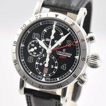 Chronoswiss Timemaster Chronograph GMT Steel 7533 44mm Black