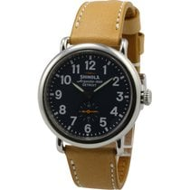 Shinola The Runwell Blue Dial Leather Strap Unisex Watch 10000144