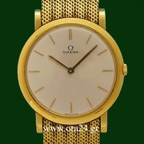 Omega Vintage Classic 18k Yellow Gold Removable Bracelet
