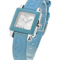 Chopard 27/8896-3004 Happy Sport Square Be Happy - Blue Bezel...