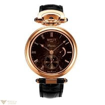 Bovet Amadeo Fleurier 18K Rose Gold Leather Men`s Watch