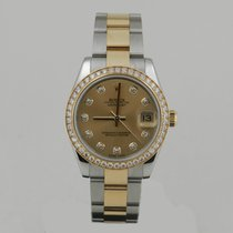 Rolex DATE JUST 31mm STEEL & GOLD DiAMOND BEZEL & DiAL...