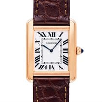 Cartier Tank Solo Woman Small Model Silver 18k Pink Gold/Leath...