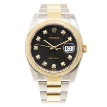 勞力士 (Rolex) Datejust Gold And Steel Black Automatic 116203JBK_O