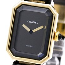 Chanel Polished Chanel Premiere 18k Gold Leather Quartz Ladies...
