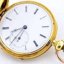 Huguenin A , Geneva Pocket watch - Button operated - Chain18...