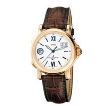 Ulysse Nardin 226-87 - Rose Gold on Strap with Silver Dial