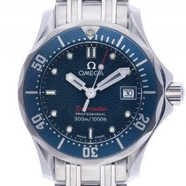 Omega Seamaster Diver 300m Stahl Quarz Armband Stahl 28mm...