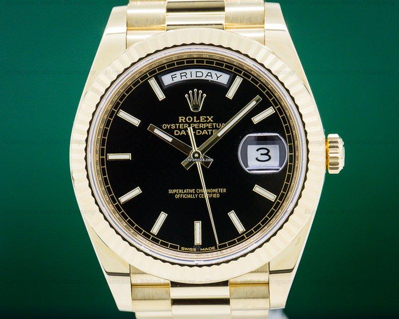 f87bbb9961f Rolex 228238 Day Date Presidential Black Dial   Yellow Gold... por 26.379 €  para vender por um Trusted Seller na Chrono24