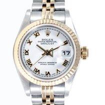 Rolex Ladies 18K/SS Datejust - White Roman Numeral Dial 69173