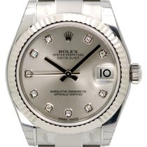 Rolex Datejust Ladies Midsize 178274-SLVDO Silver Diamond...