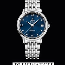 Omega De Ville Prestige Co-Axial Blue Dial Diamonds T