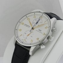 IWC Portuguese Automatic Chronograph IW371445 Silver Dial...