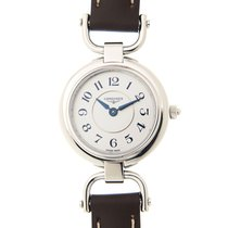 Longines Equestrian Stainless Steel Silvery White Quartz...