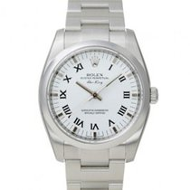 Rolex Air King Rolex 114200 White roman dial Domed Bezel