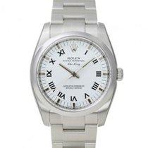 Rolex Air King Rolex 114200 White roman dial Domed Bezel