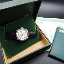 Rolex OYSTER PERPETUAL 1007 Silver Dial Engine Turned Bezel...