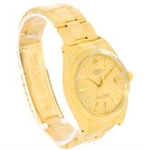 Rolex Date 18k Yellow Gold Oyster Bracelet Vintage Mens Watch...