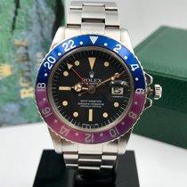 Rolex GMT-Master 1675 radial dial purple bezel