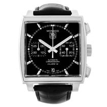 TAG Heuer Monaco Black Dial Automatic Mens Watch Caw2110 Box Card