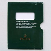 """Rolex Porta garanzia U.S.A. per garanzia con """"rombi"""""""