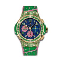 Hublot Big Bang Pop Art 41mm Automatic 18k Yellow Gold Set...
