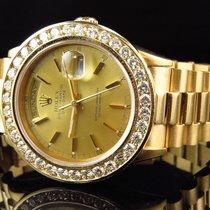Rolex Mens 36 MM Rolex Day-Date Presidential 18038 18k Yellow...