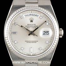 Ρολεξ (Rolex) 18k W/G Silver Diamond Dial Oysterquartz...