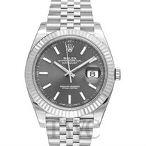 롤렉스 (Rolex) Datejust 41 Dark Rhodium 18k White Gold/Steel...
