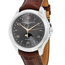 Baume & Mercier MOA10213 Clifton 43mm in Steel - on Brown...
