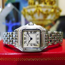 Cartier Panther Panthere Stainless Steel Roman Numeral Watch...