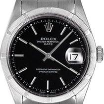 Rolex Date Men's Stainless Steel Watch Engine Turned Bezel...