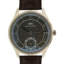 IWC Portoghese Hand-wound Iw544504 In White Gold 18kt And...