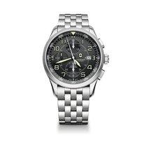 Victorinox Swiss Army Airboss cronografo, grigio, acciaio, data