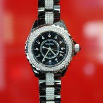 Chanel J12 Black Dial Ceramic factory set Diamond Watch