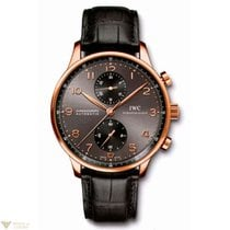 IWC Portuguese Automatic Chronograph Ardoise Black Dial Red...