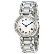 Longines Prima Luna Silver Dial Diamond Ladies Watch