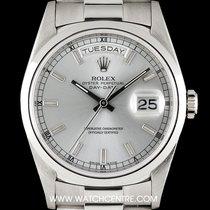勞力士 (Rolex) Platinum Silver Dial Day-Date Gents 18206