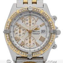 Breitling Crosswind Stahl/Gold mit Diamanten und Modulhilfsuhr...