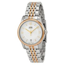 Oris Classic Date Silver Dial TwoTone Stainless Steel Men'...