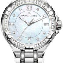 Maurice Lacroix Aikon 36 Diamanten Damenuhr AI1006-SD502-170-1...