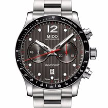 Mido Multifort Chronograph Automatic Mens Watch Black Dial