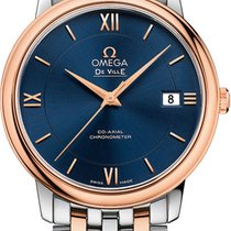 Omega DeVille Prestige Men's Stainless & Rose Gold...