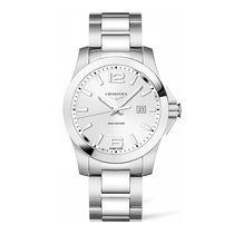 Longines Conquest Silver Dial Stainless Steel 41mm Men's...